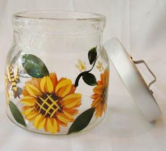 彩绘玻璃瓶图片