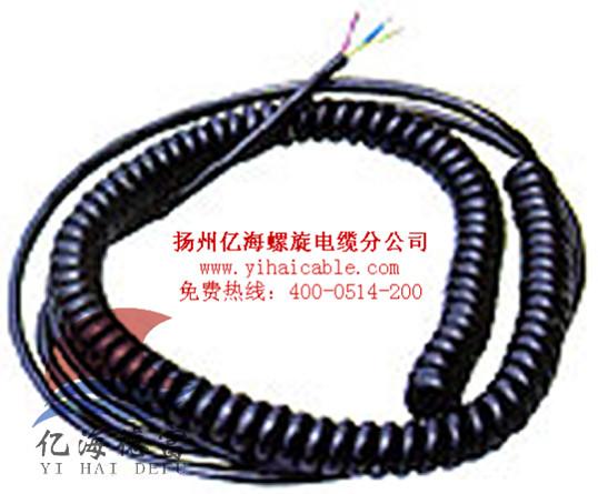电源设备螺旋电缆;电动门电源连接线:机电设备螺旋