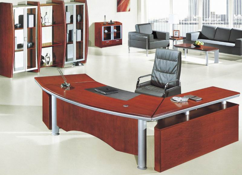 MDF Veneer Office Furniture Executive Boss Manager Table