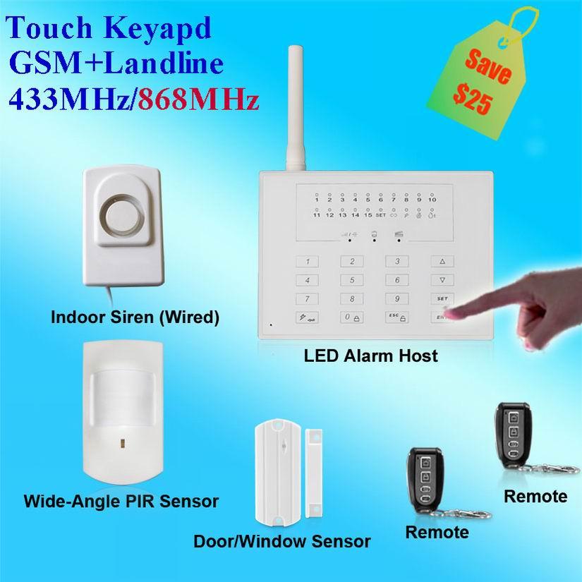 High capacity backup battery wireless home intruder alarm
