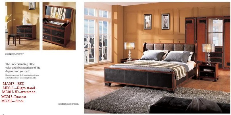 MDF with OAK veneer bedroom sets