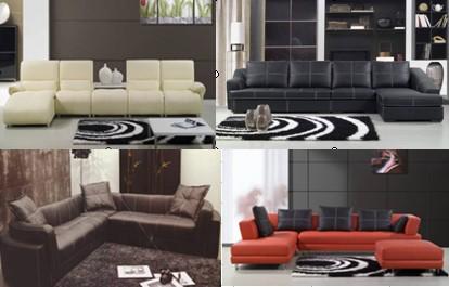 Steel leather sofa
