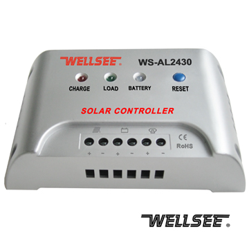 New solar charge controllers WS-AL2430 20/25/30A 12V/24V CE RoHS