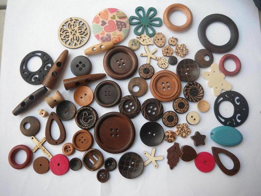 创高珠饰木制纽扣