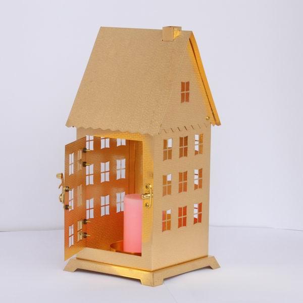 立体手工废纸箱房子