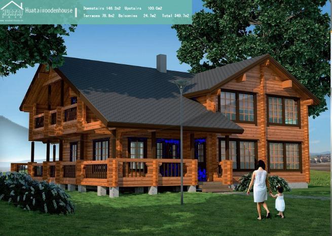 ht-y-003花园木屋别墅,欧式木屋,木屋别墅 价格:2000元/平