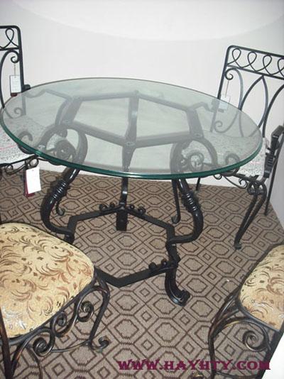 银河铁艺欧式家居,铁艺餐桌,铁艺图片
