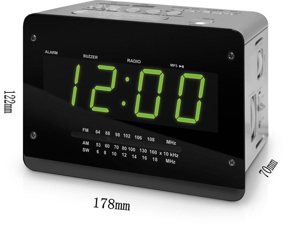 usb/sd/mmc/mp3player and portable alarm clock radio