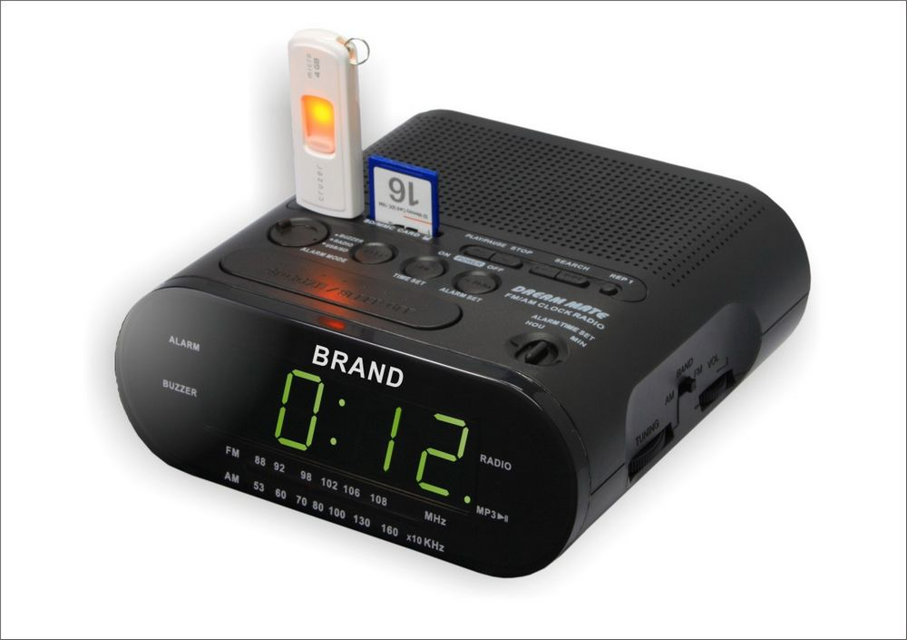 ALARM CLOCK RADIO WITH USB SD CARD RADIO