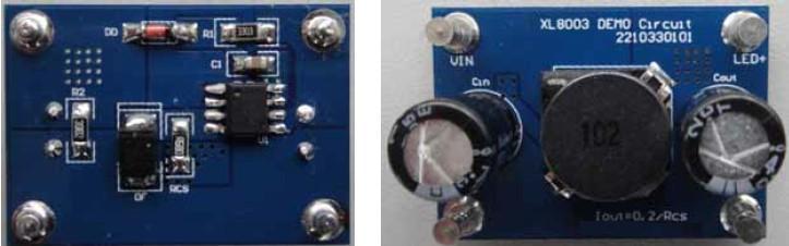 XL8003 降压型LED恒流驱动器芯片(高电压型) 最高输出电流:O.5A; 最高输入电压:XL8003为24~80V 输出电压:支持3~8 颗LED串联使用; 输出电流:Adj (0.1V) 振动频率:PFM; 转换效率:80%~95%(不同电压输出时的效率不同); 封装形式:SOP8L; 控制方式:PWM; 工作温度范围:-40 ~ +125 工作模式:低功耗/正常两种模式可外部控制; 工作模式控制:TTL电平兼容; 所需外部元件:只需极少的外围器件便可构成高效稳压电路;外