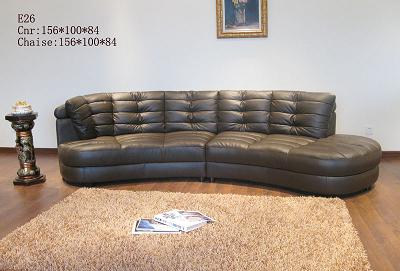 Special Design Leather Stationary Sofa