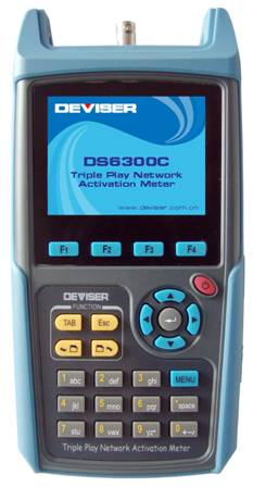 Triple Play Network Activation Meter DS6300C QAM/Digital/Analog
