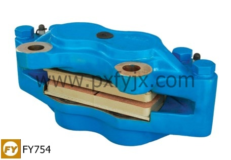 此盘式制动器钳体是由高强度球墨铸铁制成