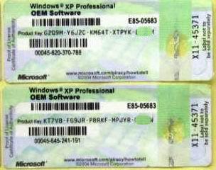windows xp pro oem coa activate online