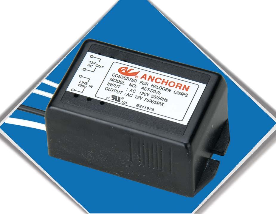 卤素灯变压器 / 电子式变压器 型号: AET-D0501(50W) 规格 - 额定电压: 120VAC 最大范围额定电压: 132VAC 输入额定频率范围: 50-60HZ 输入电流: 0.42A 负载额定功率: 50W 负载范围内(最大12V): 10W-50W 负载范围电压(连接端子): 11.0VAC~11.8VAC 功率损耗负载范围: 3W 功率因数负载范围: COS0.