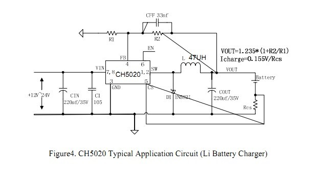 ch恒压恒流电源充电ic