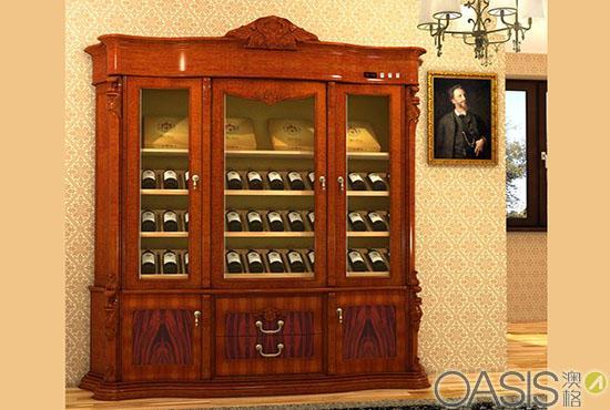 澳格/g103实木雕花酒柜 价格:1000元/台