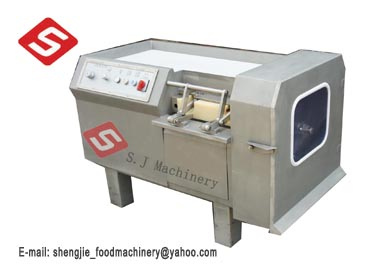Automatic meat dicer, meat cube cutter