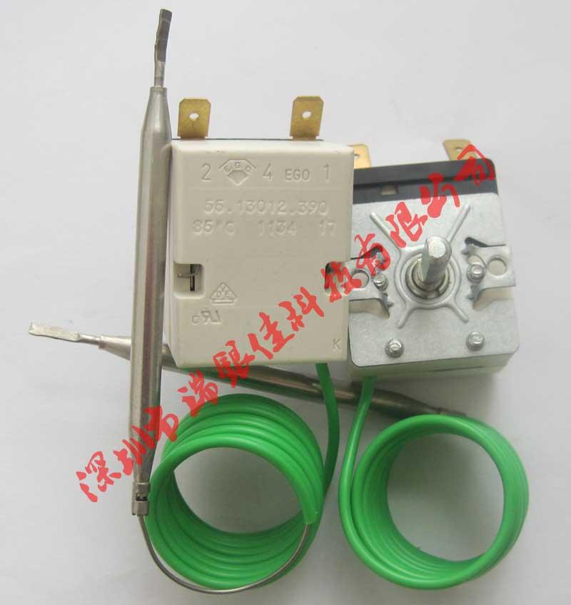 EGO温控器工作原理 温度传感部件由温包、毛细管、薄膜片以及膨胀介质组成。在温包被加热时,介质被加热并开始膨胀。介质的膨胀增加了整个传感部件闭合系统中的压力。增加的压力被转化为薄膜片的位移。 这种位移也称为行程,可触动快动开关,该开关可断开或者闭合电路。可通过调节转轴设需要的定位移变量。 极短的位移即可启动温控器。在烘烤过程中,增加0.