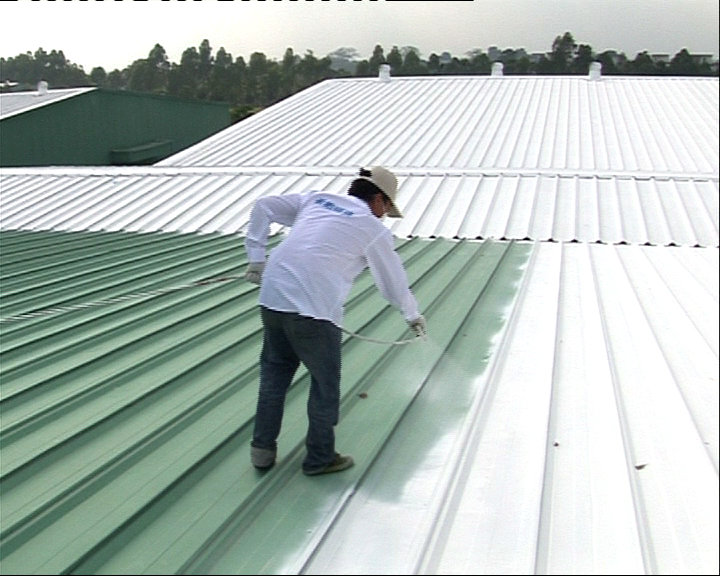 珠海厂房隔热公司斗门铁皮屋顶隔热漆南屏铁棚喷漆
