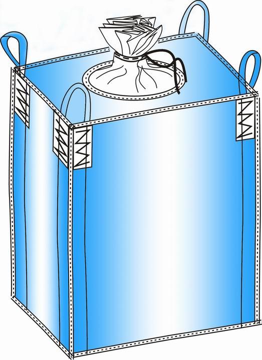 此类包装一般是用常规的装卸设备进行吊装,象叉车和起重机等。 产品描述:1.袋身:方形,U形,4片,圆形,筒形,锥形,带定型角布。2.基布:PP无纺布3.吊带:1根,2根,4根,8根4.顶部:大料口,小料口,敞口5.底部:大料口,小料口,平底6.标准尺寸:根据客户需要7.涂膜:可选8.