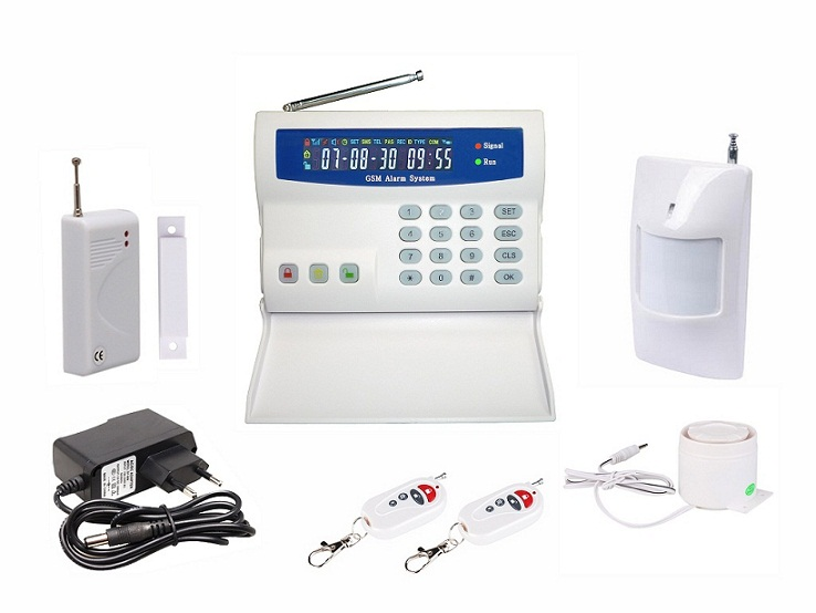 BURGLAR ALARM WIRELESS GSM ALARM SYSTEM WITH LCD