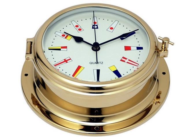 以下产品均是船用时钟,供大家选购: 名称:标准石英钟 型号:GL195--C1 名称:罗马数字石英钟 型号:GL195--C2 名称:罗马数字石英钟 型号:GL195--C2A 名称:24小时石英钟 型号:GL195--C4 名称:海潮钟 型号:GL195--TT 名称:旗语数字石英钟 型号:GL195--C3 产品说明: 1) 铜拉伸壳体,锌合金压铸舷窗,两者均为手工抛光,双层镀层。表层为真空镀锆,具有极好的耐蚀性和耐磨性,历久弥新,永不退色 2) 刻边钟面玻璃,可开启式钟面,无需从墙壁上取下钟体,即更