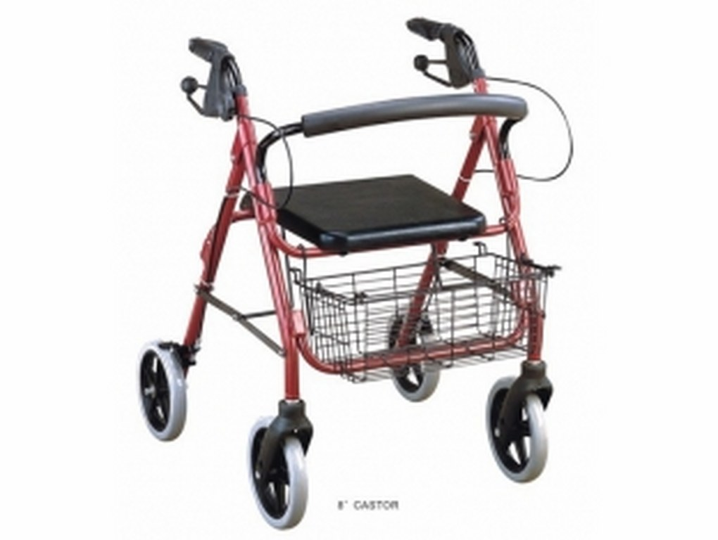 walking aids rollator with seat and basket