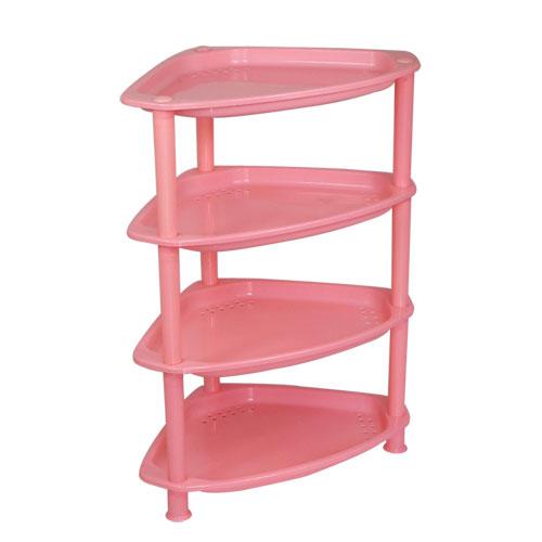 汇来宝6916三角形浴室置物架塑料四层架 价格:22元/个