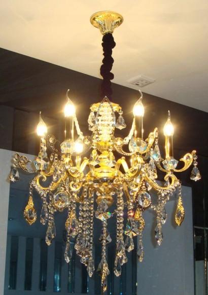 jd140209欧式水晶蜡烛吊灯