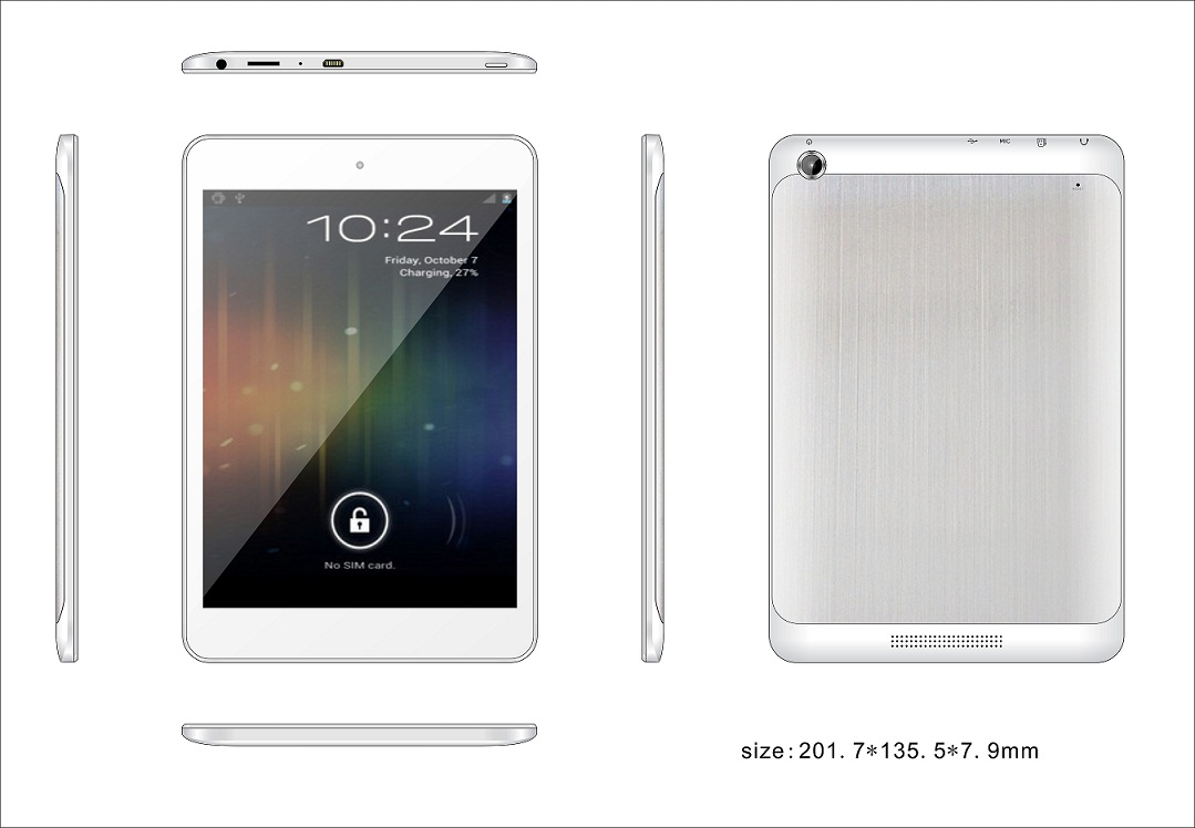 RK3026 7.85inch Dual core  tablet MID