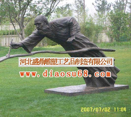 主题性园林雕塑表现一定的主题内容,装饰性园林雕塑在园林设计中起