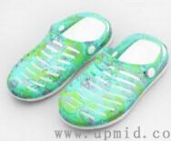 华中上水晶果冻鞋