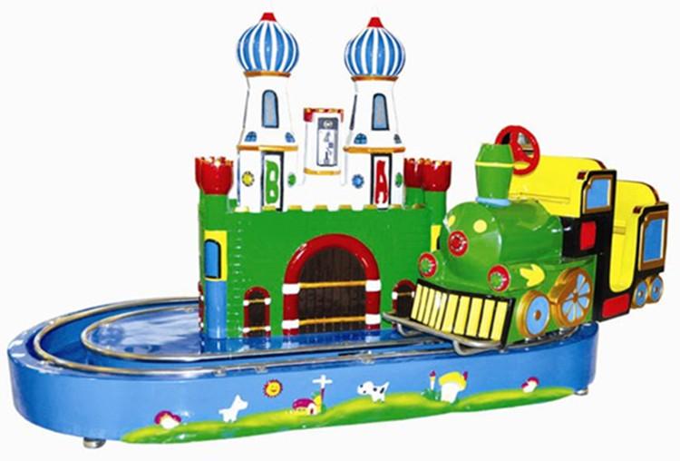 城堡列车儿童游乐场小型轨道车