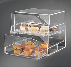 2015 hot selling clear acrylic food display cases
