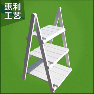 创意梯形木花架