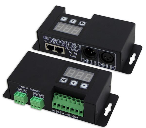 DC12V-24V RGB DMX Decoder XLR+RJ45+terminal block