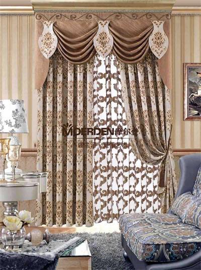 摩尔登卧室窗帘 高档定做欧式窗帘布艺