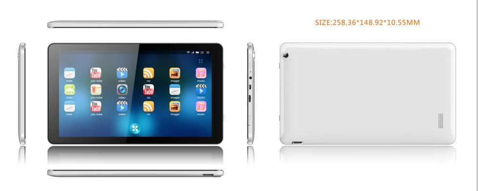 10.1 inch tablet pc with RK 3128