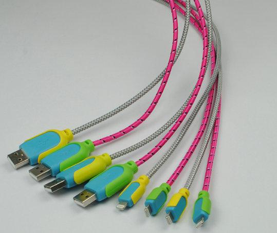 苹果lightning接头编织数据线