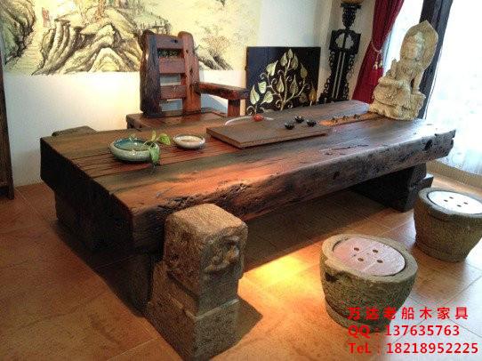 本公司经营批发,订做船木家具,船木茶盘,船木茶台,船木酒吧台,船木