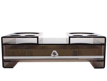 stockwel家居酒店卫生间收纳盒 浴室透明咖 价格:158元/件